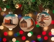 Navajo Indian Sand Painted Christmas Ornament Set  (co18)