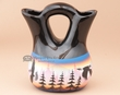 "Navajo Indian Wedding Vase 5.75"" -Mountains  (91)"