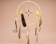 "Navajo Medicine Wheel Dream Catcher 12"" -Gold  (D12-1)"