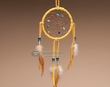 "Navajo Native American Dream Catcher 4"" -Gold"