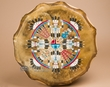 "Navajo Native American Drum 16"" -Kachina Sun Face"