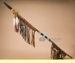 "Rustic Native American Beaded Spear 54"" -Tigua  (L3)"