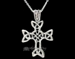 "Navajo Silver Celtic Cross Necklace 20""  (ij417)"