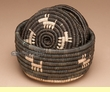 Navajo Pattern Coiled Basket Coaster Set 6 pc.  (a2)