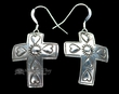 Navajo Southwest Sterling Silver Earrings -Cross  (77)