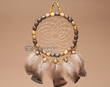"Navajo Wooden Beaded Dream Catcher 7""  (6-13)"