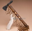 "Old Style Antiqued Navajo Beaded Tomahawk 16""  (t96)"