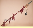 "Old Style Beaded Tigua Indian Lance 54"" -Pueblo  (L20)"