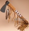"Old Style Navajo Beaded Indian Tomahawk 16""  (t98)"