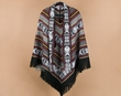 Otavalo Indian Woven Pancho -Black  (7)