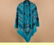 Otavalo Indian Woven Poncho -Turquoise  (p14)