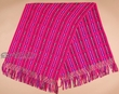 Southwest Otavalo Indian Woven Shawl -Pink  (p11)
