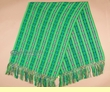 Otavalo Indian Woven Shawl -Green  (s9)