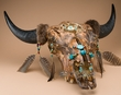 Native American Dreamcatcher Buffalo Skull  (ps86)