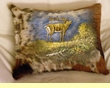 Painted Cowhide Pillow 12x18 - Elk  (10)