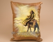 Painted Cowhide Cowboy Pillow -Riding Herd  (20)