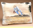 Painted Cowhide Pillow -Cowboy  (15)