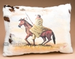Painted Cowhide Pillow -Indian  (17)