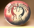 "Painted Drum 16"" -Kokopelli One Sided"