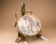 Hand Painted Drum Jaw Bone Stand -Kokopelli  (pd61)