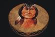 """Painted Drum -Native American Chief Sitting Bull, 20"""""""