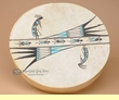 Painted Drum -Tigua Indian Kokopelli 16""