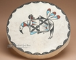 Painted Drum -Tigua Indian Rainbird 16""
