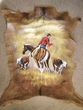 """Painted Hide for Western Decor 34""""x29"""" -Strays  (41)"""