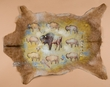 Painted Hide Western Art 37x27 -Buffalo  (h15)