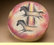"Painted Indian Drum -Horses 16"" (h3)"