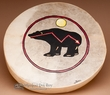 "Painted Indian Hoop Drum 16"" -Bear"
