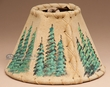 Painted Leather Chandelier Lamp Shade - Ponderosa Pines 6""