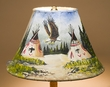 "Painted Leather Lamp Shade - 12"" -Indian Valley  (PL63)"