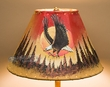 "Painted Leather Lamp Shade 12"" -Moon Lit Eagle  (PL54)"