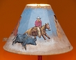 "Painted Leather Lamp Shade - 15"" Cowgirl  (PL47)"
