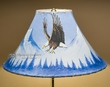 """Painted Leather Lamp Shade 16"""" -Eagle (PL99)"""