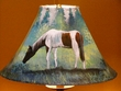 "Painted Leather Lamp Shade - 15"" Horse  (PL44)"