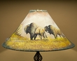 "Painted Leather Lamp Shade 22"" -Buffalo  (PL44)"