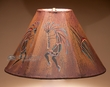 "Painted Leather Lamp Shade 15"" -Kokopelli  (PL101)"