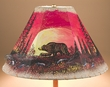 "Painted Leather Lamp Shade 15"" -Moonlit Bear  (pl115)"