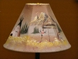 "Painted Leather Lamp Shade 15"" -Teepees  (PL102)"