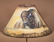 "Painted Leather Lamp Shade - 16"" Buffalo  (PL43)"