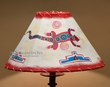 "Painted Leather Lamp Shade - 16"" Lizard  (PL45)"