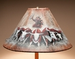 "Painted Leather Lamp Shade 18"" -Cattle Drive   (pl107)"