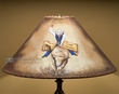 "Painted Leather Lamp Shade 20"" -Bull Rider   (pl103)"