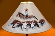 "Painted Leather Lamp Shade 20"" -Cattle Drive  (PL87)"