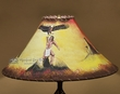 "Painted Leather Lamp Shade 20"" -Indian Eagle  (PL71)"