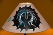 "Painted Leather Lamp Shade 20"" -Kokopelli  (PL88)"