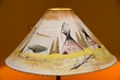 "Painted Leather Lamp Shade 20"" -Teepees  (PL90)"