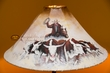 "Painted Leather Lamp Shade 24"" -Cattle Drive  (PL81)"